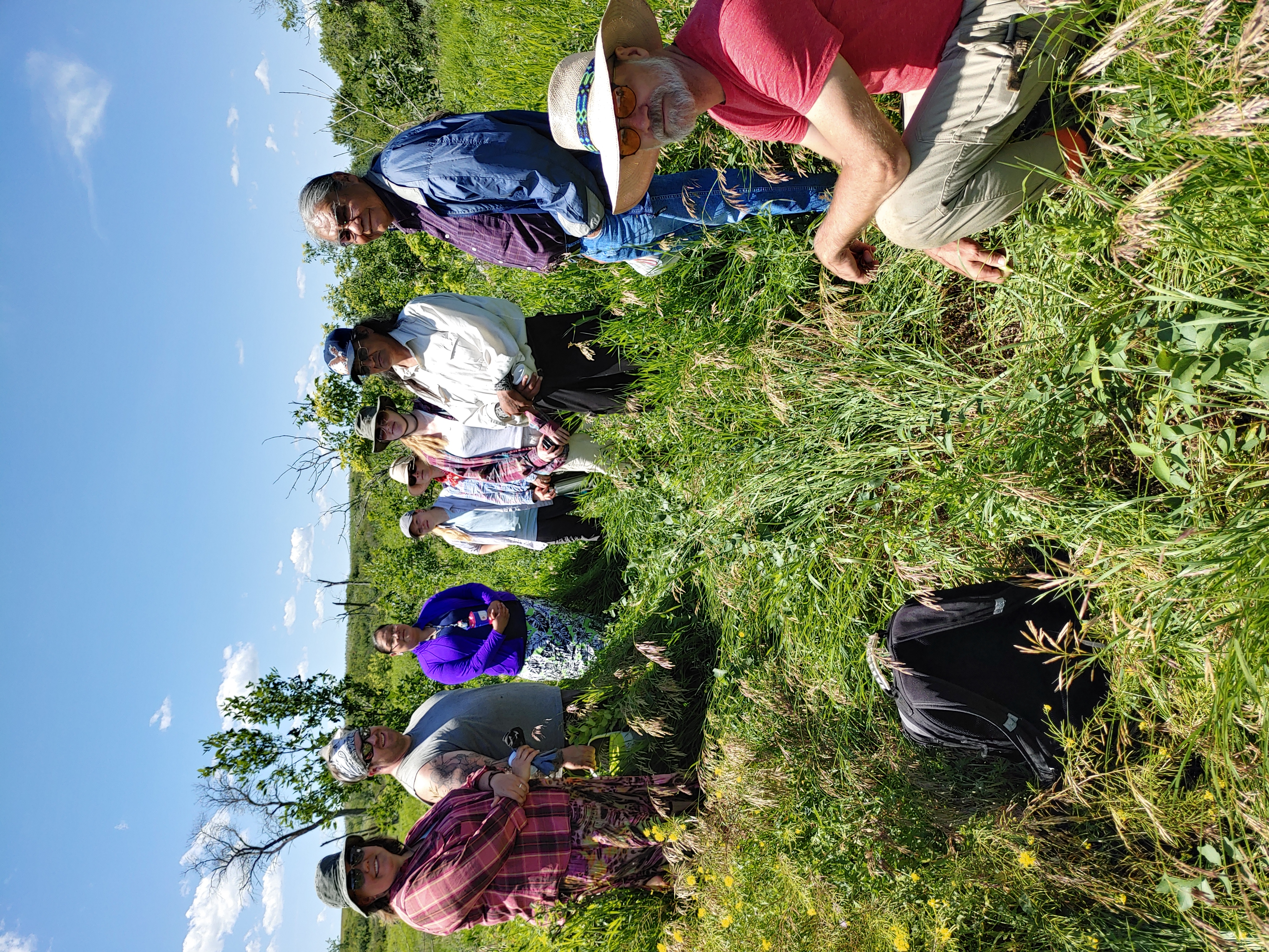 Tour of the Olson site before Indigenous blessing