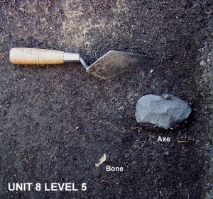 2004 © Unit 8 - Exposing stone axe